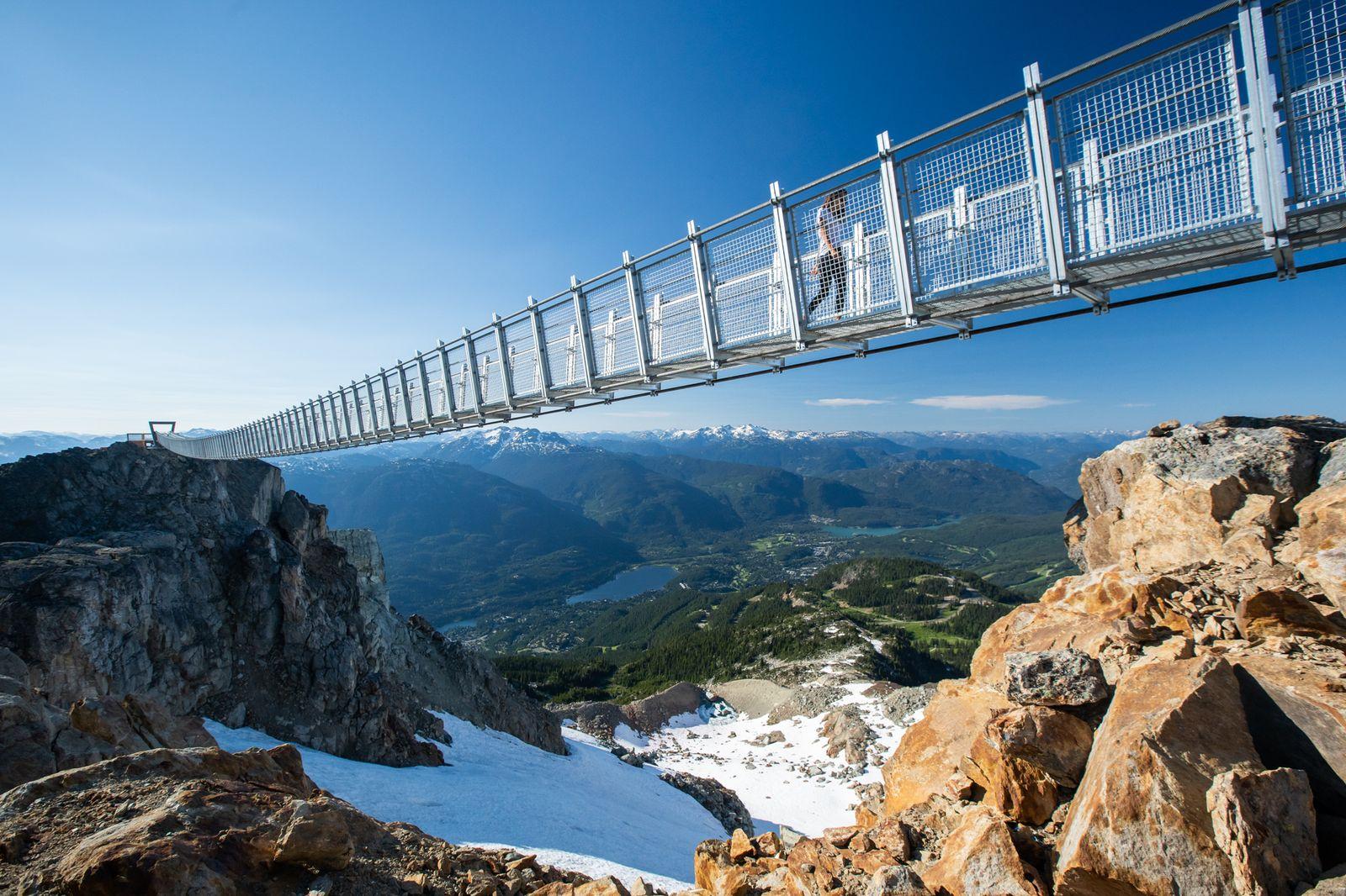 EINMALIGE VERWENDUNG Suspension Bridge/ Whistlers Peak/ West Ridge