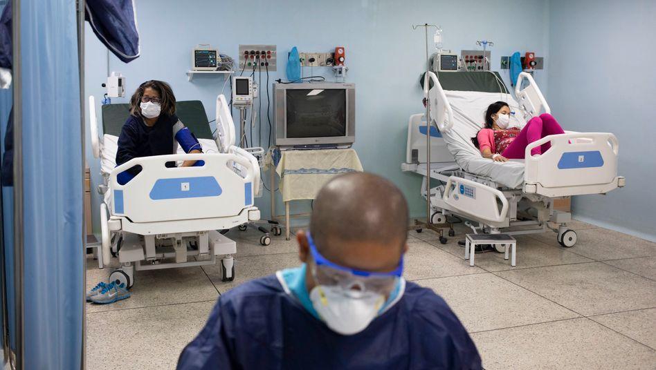 Intensivstation eines Gesundheitszentrums in Caracas: Es fehlt am Nötigsten