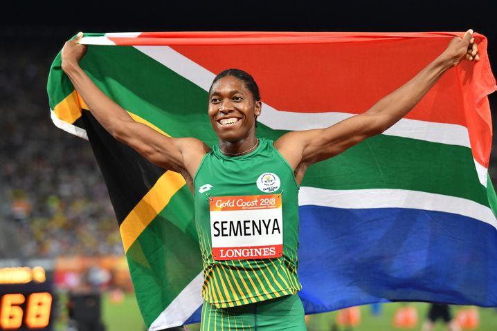 Caster Semenya beim 800m Lauf bei den Commonwealth Games 2018