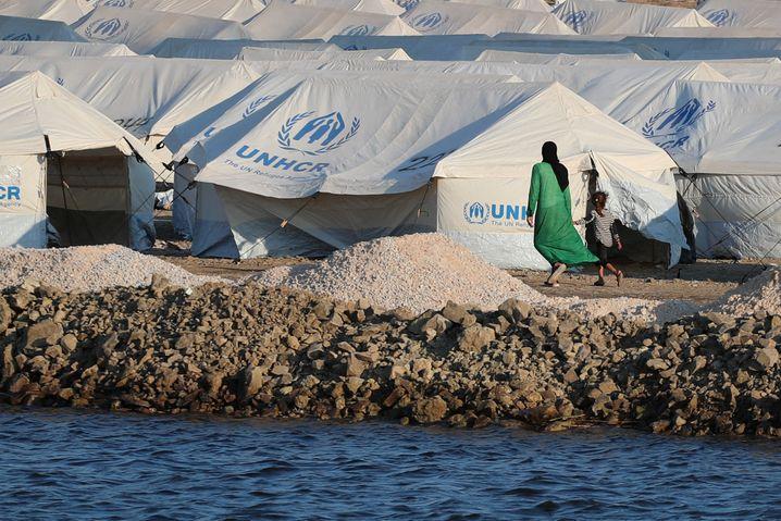 Provisorisches Zeltlager auf Lesbos