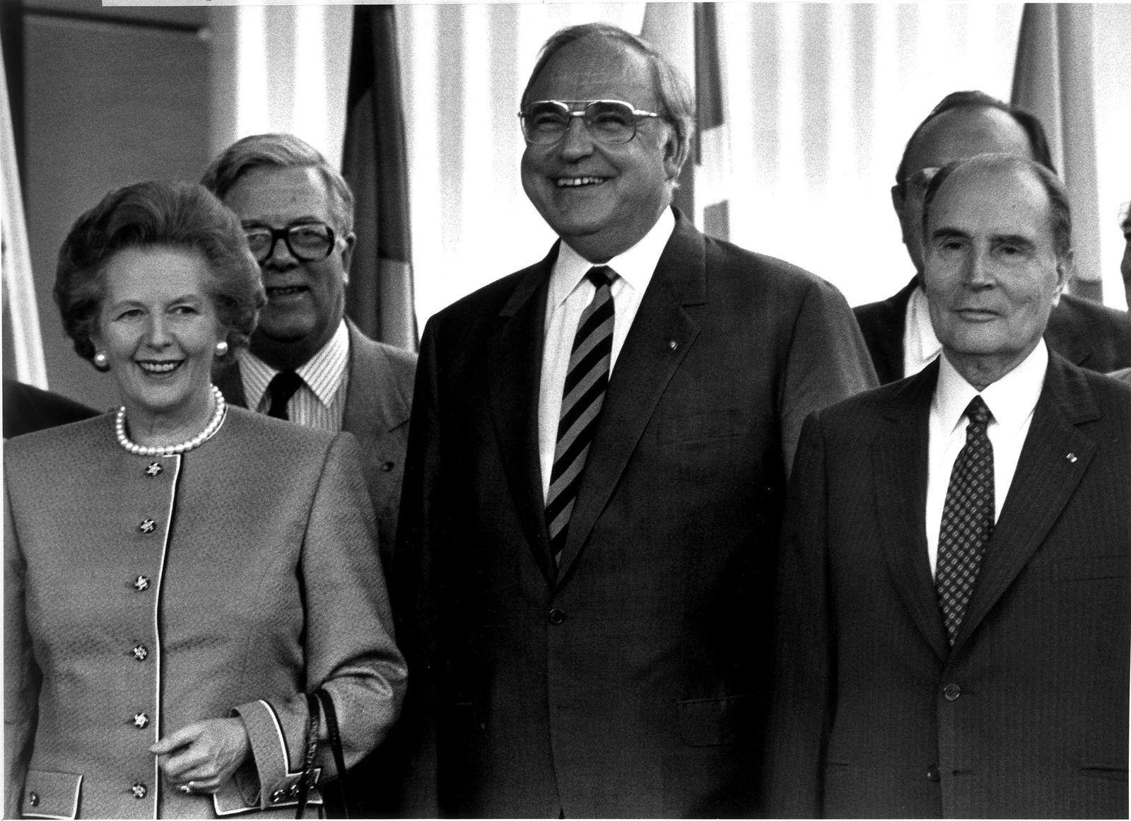 Margaret Thatcher/Helmut Kohl/Francois Mitterand