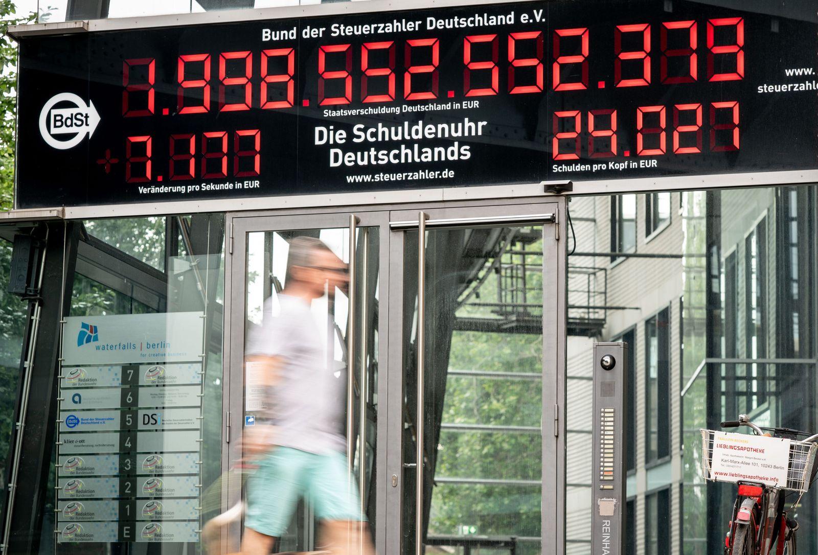 25 Jahre Schuldenuhr Deutschlands