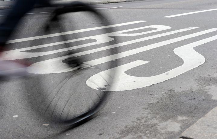 Fahrradfahrer in Berlin