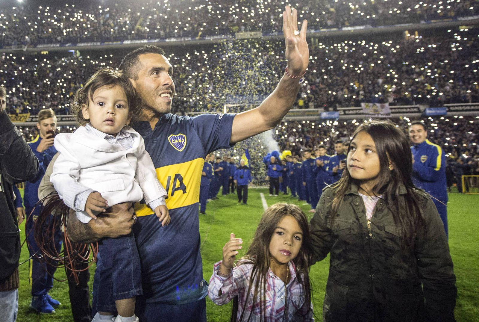 EINMALIGE VERWENDUNG Carlos Tevez/ Boca Juniors