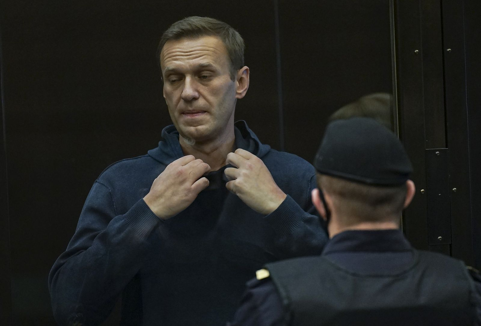 The Moscow City Court consider the requirement of the Federal Penitentiary Service to replace Navalny's suspended sentence with a real one, Russian Federation - 02 Feb 2021