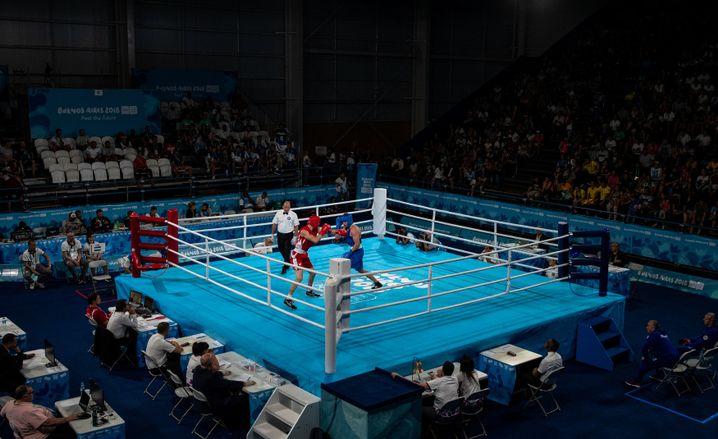 Boxen bei den Jugendspielen in Buenos Aires
