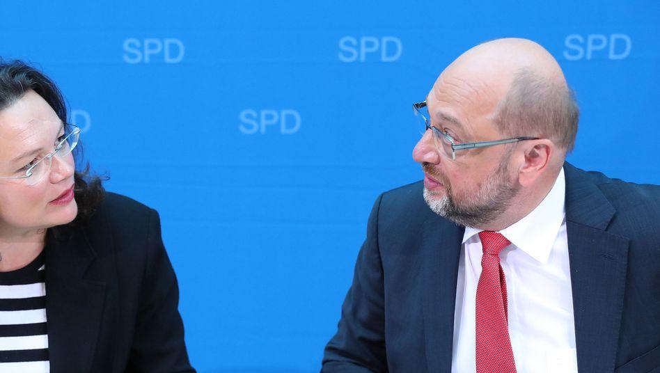 Sozialdemokraten Nahles, Schulz
