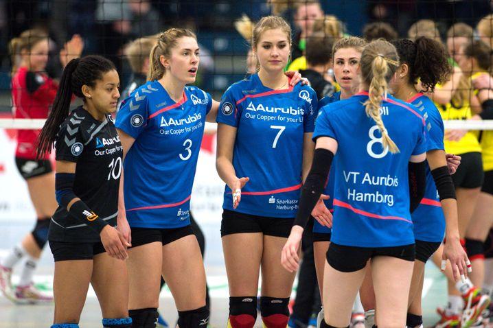 Keine Zukunft in Hamburg: Spielerinnen des VT Aurubis