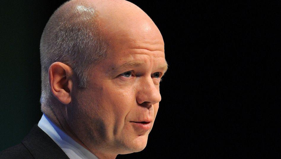 "British Foreign Secretary Hague: ""More international consensus is urgently needed"""