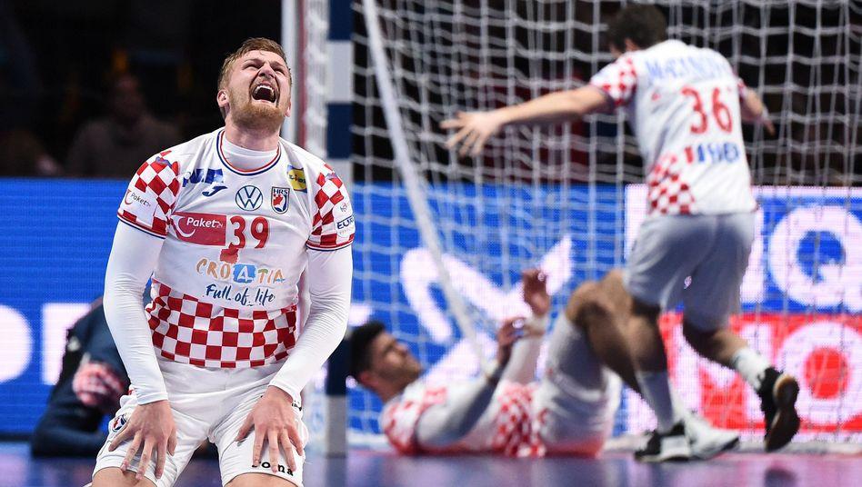 Handball-EM: Kroatien gewinnt dramatisches Halbfinale gegen Norwegen