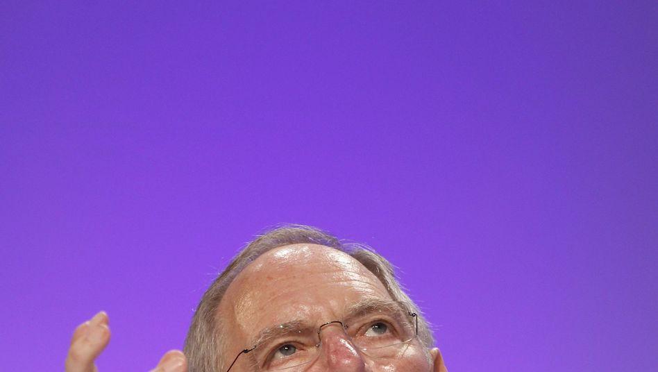 Finanzminister Wolfgang Schäuble: Hoffnung auf bessere Zeiten