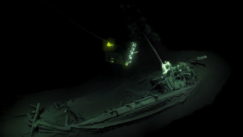 Schiffswrack am Grund des Schwarzen Meeres vor Bulgarien