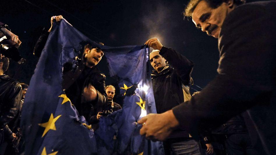 Anti-EU-Proteste in Griechenland: Entweder-Oder für den Euro