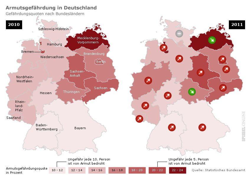 grafik KARTE armutsgefährdung in deutschland