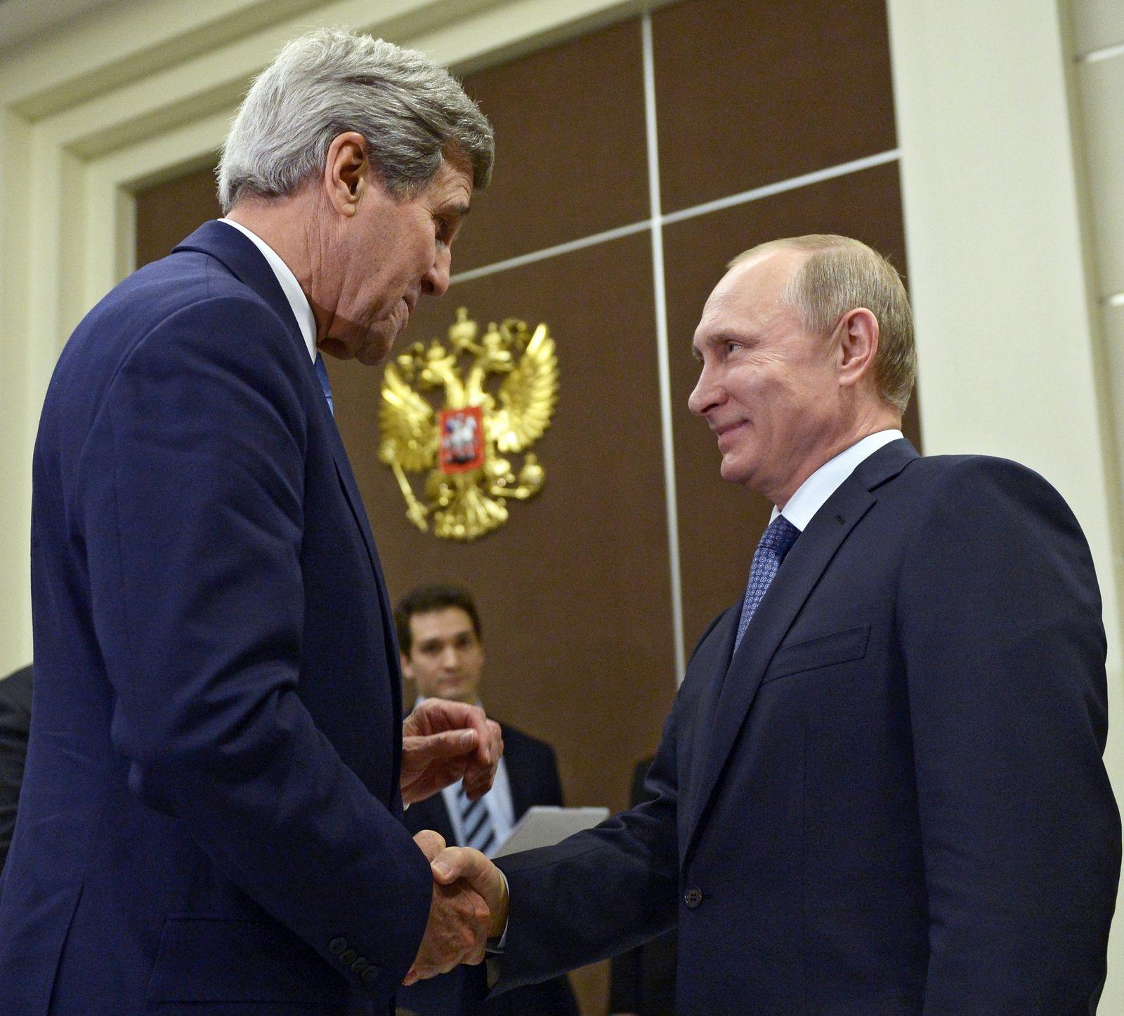 Wladimir Putin, John Kerry