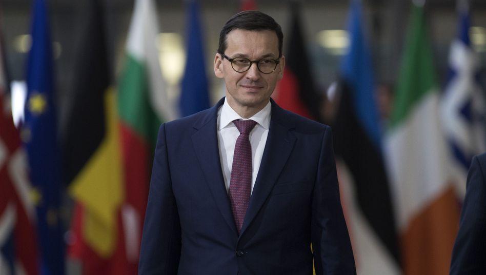 Polnischer Ministerpräsident Mateusz Morawiecki