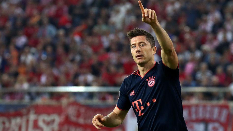 Robert Lewandowski trifft und trifft auch in der Champions League
