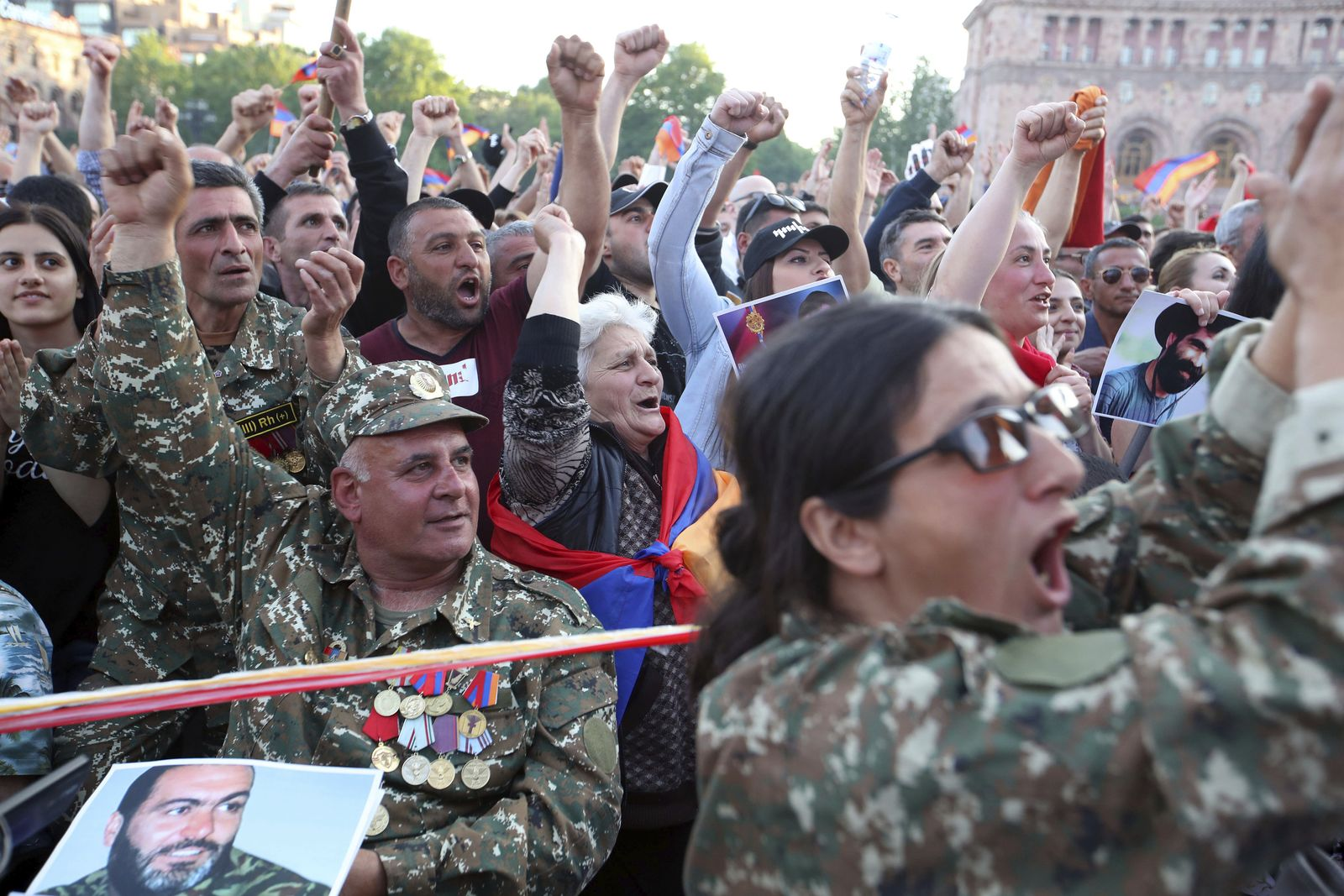 Demonstration in Armenien