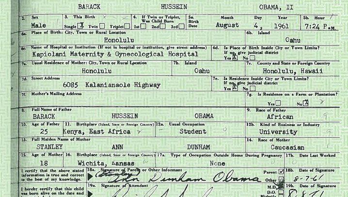 Polit-Pixel: Wurde Obamas Geburtsurkunde gefälscht?