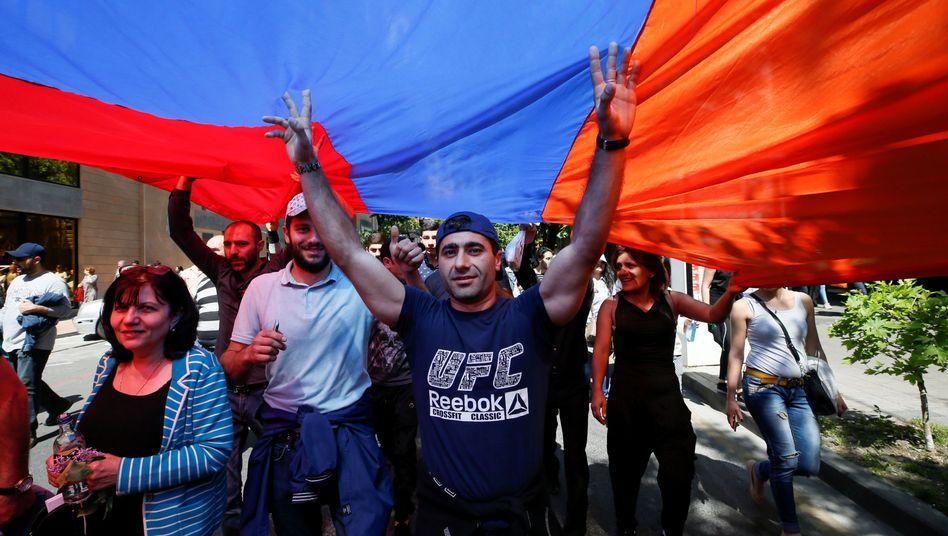 Proteste in Armeniens Hauptstadt Eriwan