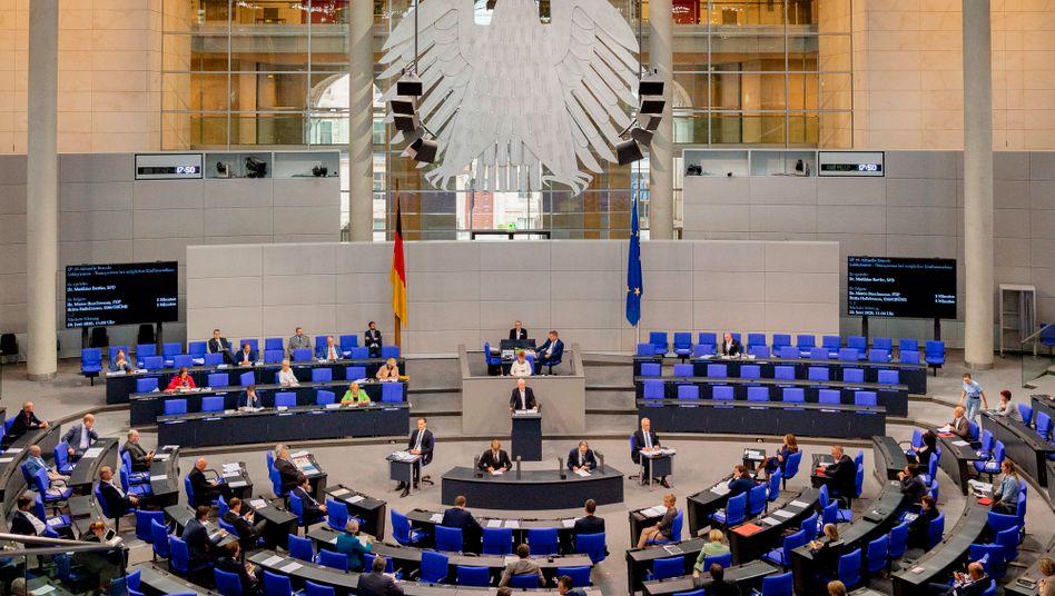 Plenarsaal des Bundestages