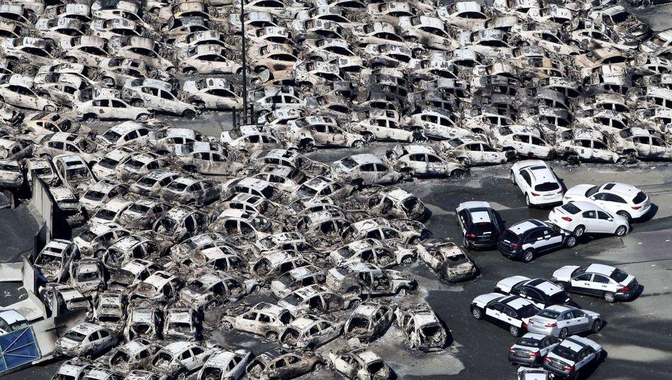 Weggespülte Wagen in Hitachinaka: Schwerer Schlag für den Weltmarktführer