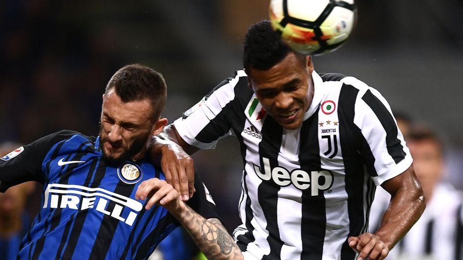 Matias Vecino (l., Inter), Alex Sandro (Juventus)