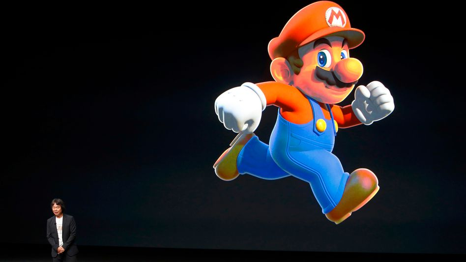 Shigeru Miyamoto beim Apple-Event in San Francisco