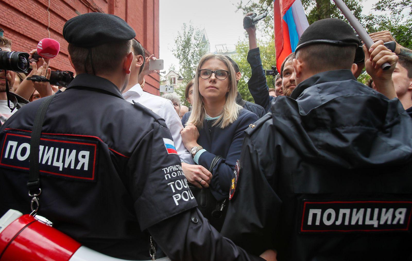 Lubow Sobel/ Russland / Wahlen / September 2019 / Moskau