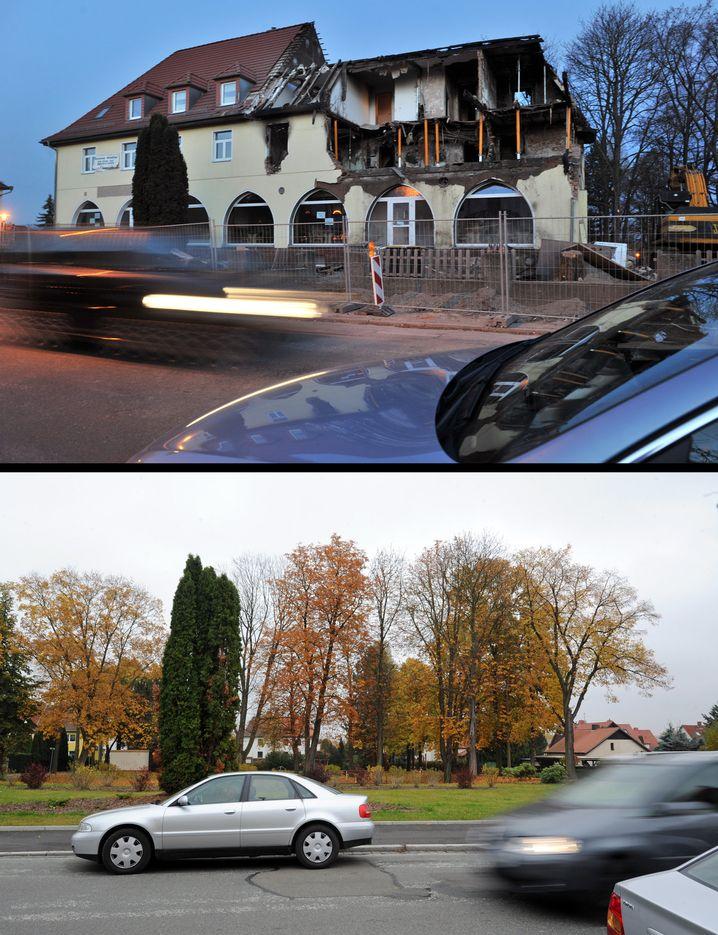 Ausgebranntes Haus in der Frühlingsstraße in Zwickau: Letzter Unterschlupf