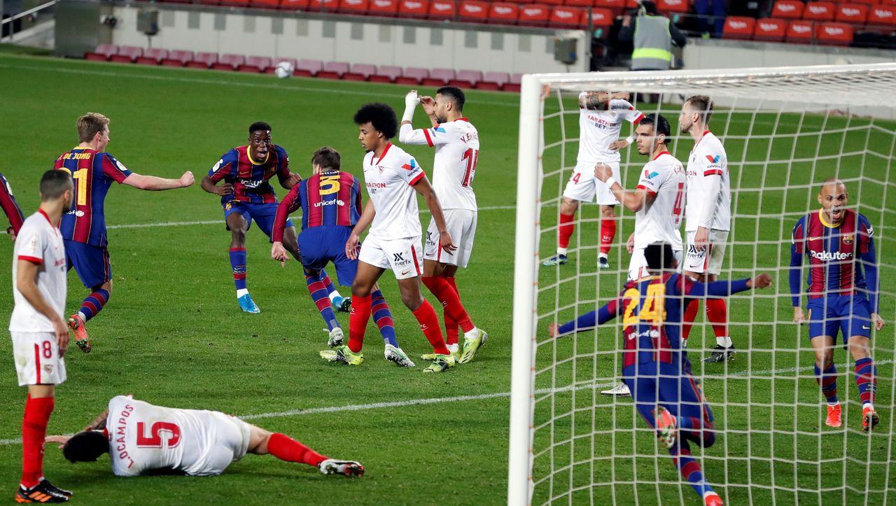 Barcelonas dramatisches Pokalspiel gegen Sevilla: Elfmeter abgewehrt, in die Verlängerung gerettet, Finale erreicht - DER SPIEGEL