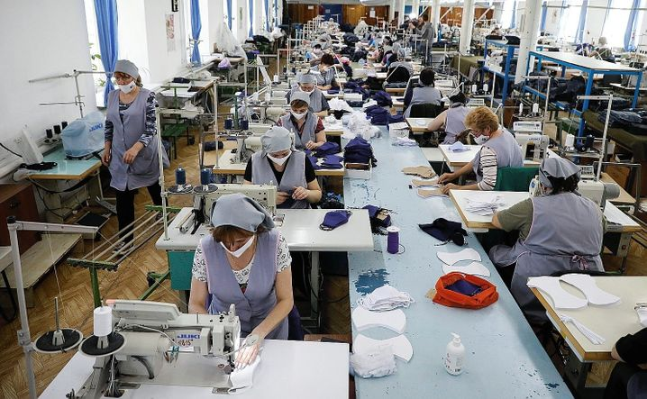 The production of masks in Russia