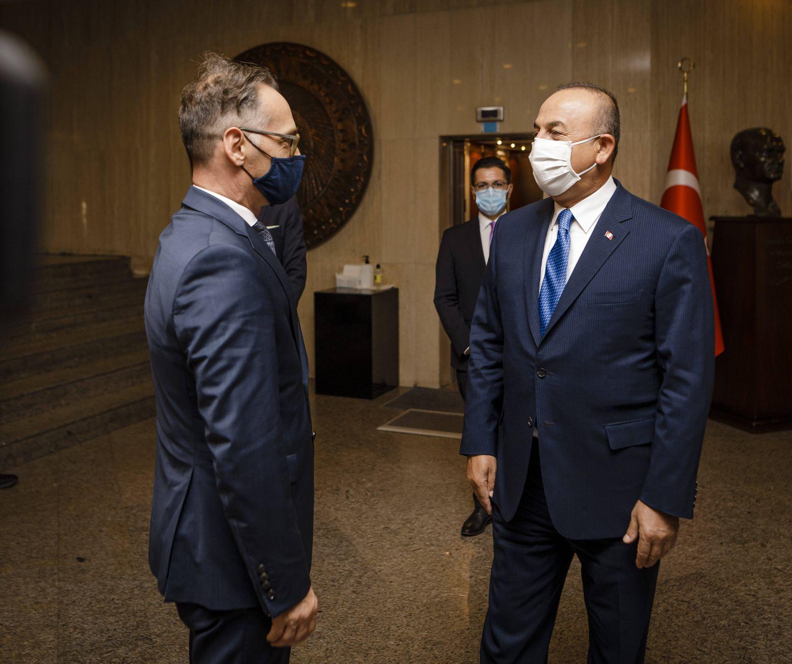 Türkei, Außenminister Mevlüt Cavusoglu empfängt Heiko Maas in Ankara Bundesaussenminister Heiko Maas, SPD, trifft Mevlu