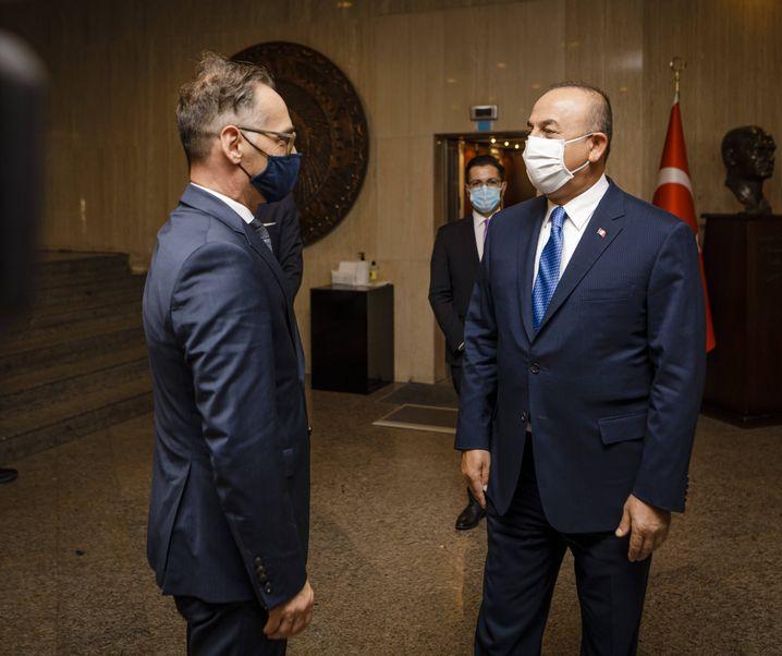 Maas und sein türkischer Amtskollege Çavuşoğlu