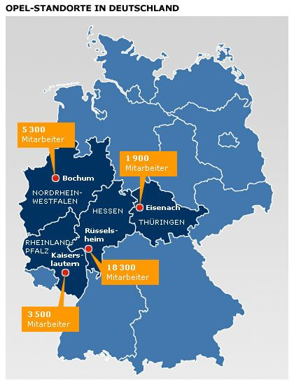 Opel-Standorte in Deutschland