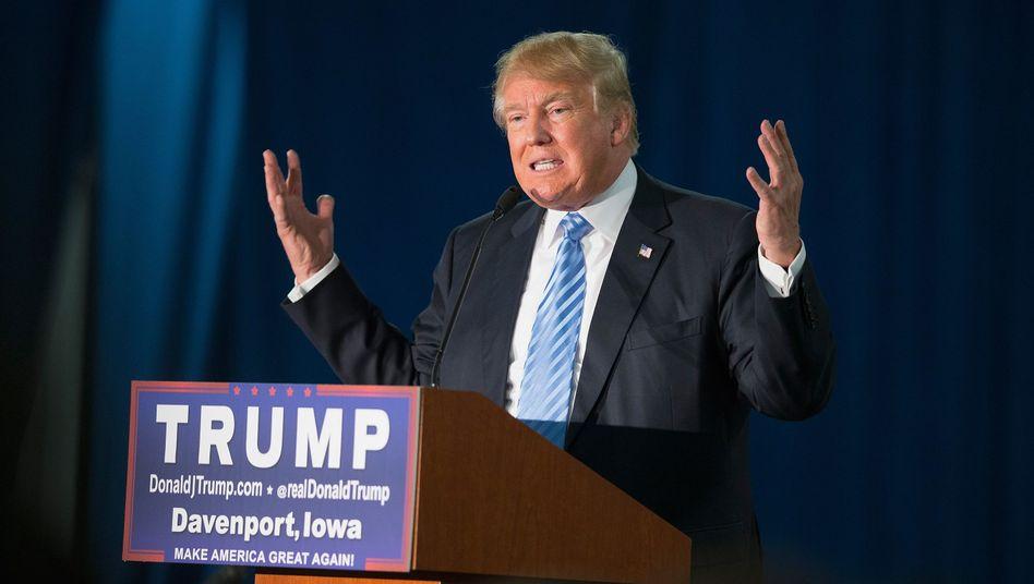 """Präsidentschaftsbewerber Trump: """"Hass auf Amerikaner in der muslimischen Bevölkerung"""""""