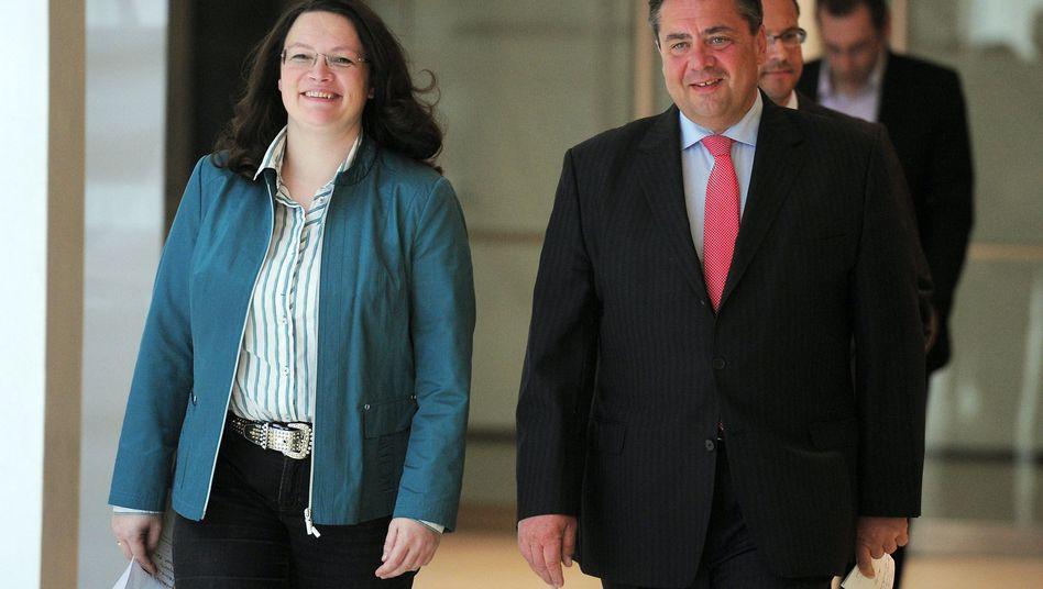 SPD-Vorsitzender Gabriel und Generalsekretärin Nahles: Quote vorgeschlagen
