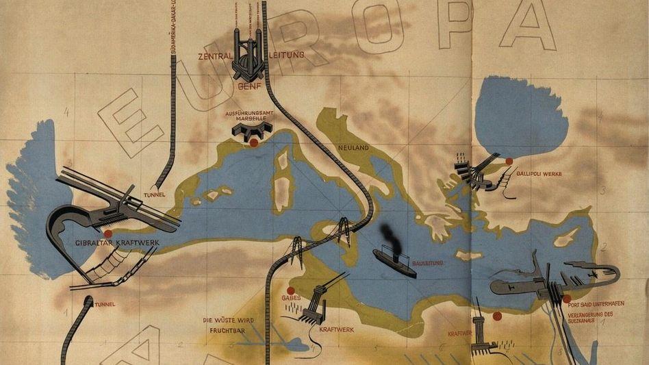 Projektskizze Sörgels von 1932