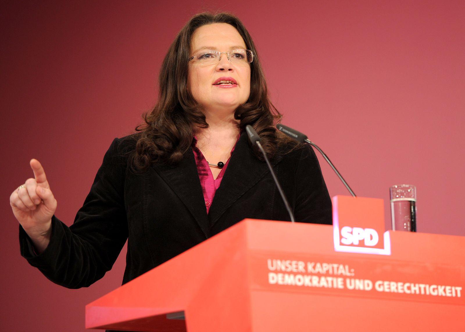 SPD-Parteitag Andrea Nahles