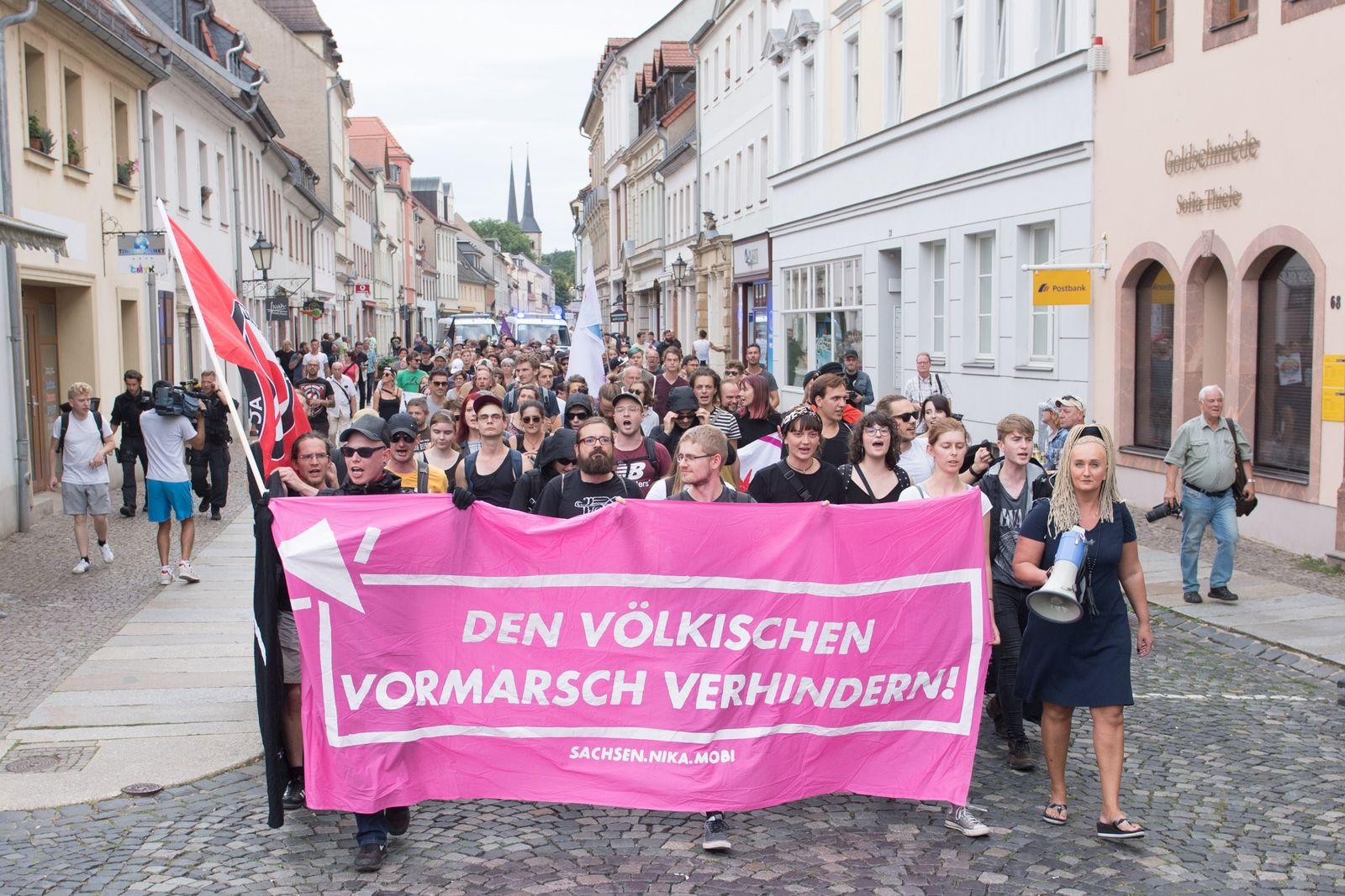 AfD-Wahlkampfveranstaltung Grimma