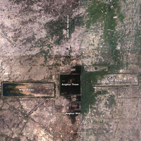 Angkor heute: Forscher vermuten, dass der exzessive Reisanbau der Grund für den Untergang der mittelalterlichen Metropole war