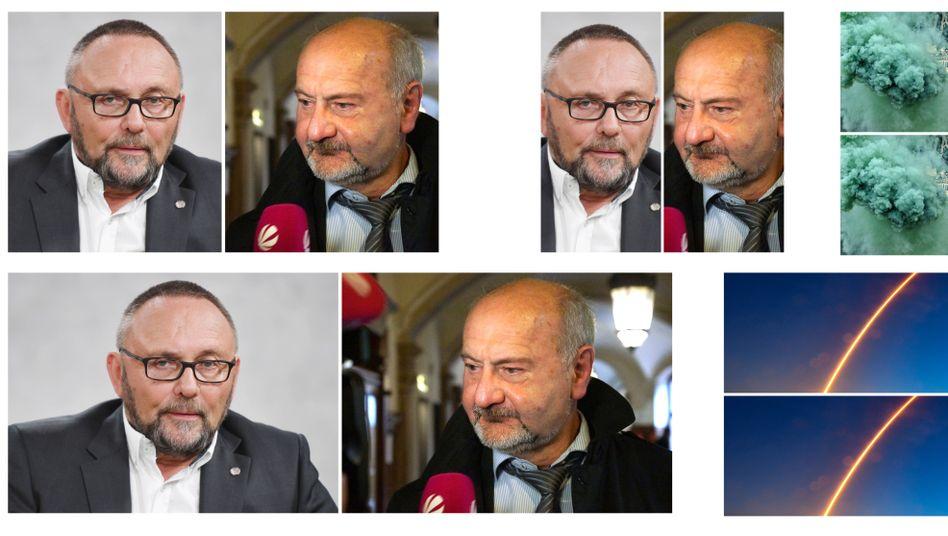 Machen sich schwere Vorwürfe: der Bremer AfD-Landeschef Frank Magnitz und der bisherige AfD-Fraktionschef Thomas Jürgewitz.