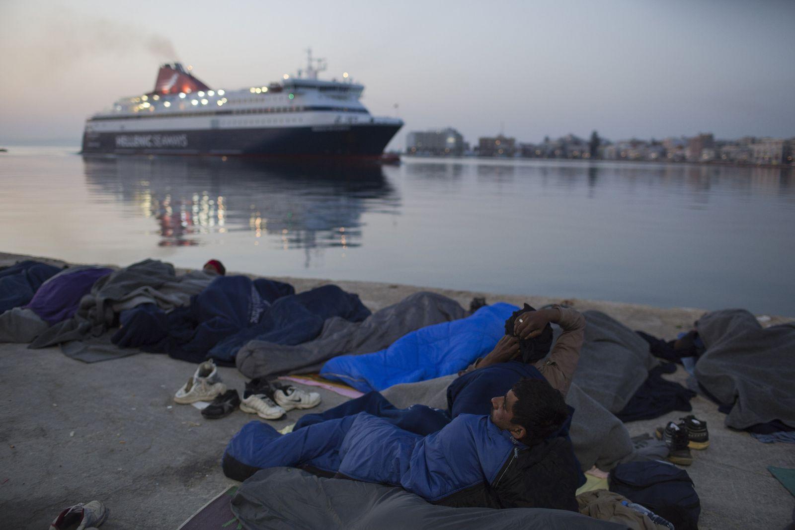 Flüchtlinge in Chios