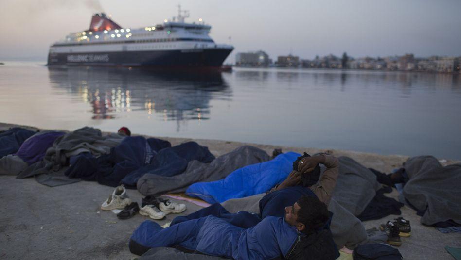 Flüchtlinge auf der Insel Chios in Griechenland (Archivbild)