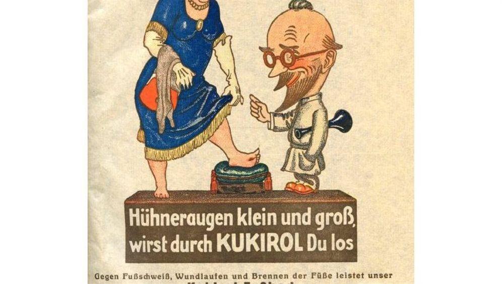 Frühe Skandal-Reklame: Hetzen, bis das Hühnerauge platzt!
