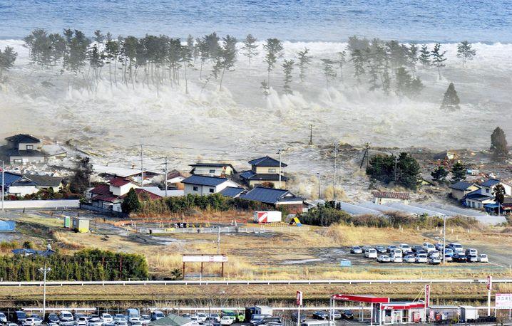 Welle am 11. März: 23 Meter Wasserwand