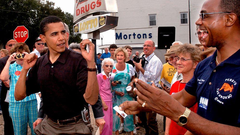Treffen mit Barack Obama: Shakehands mit dem Superstar