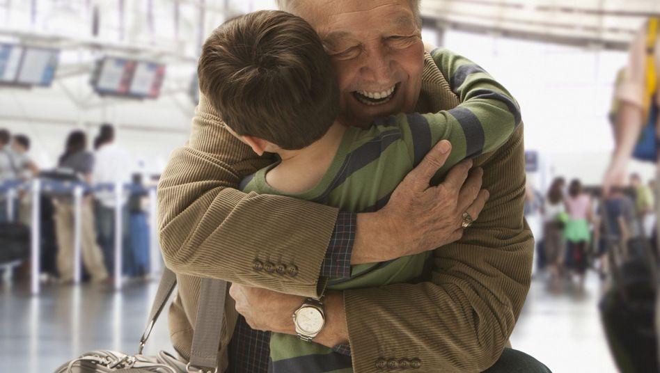 Vater und Kind: Lange Kappen im Erbgut