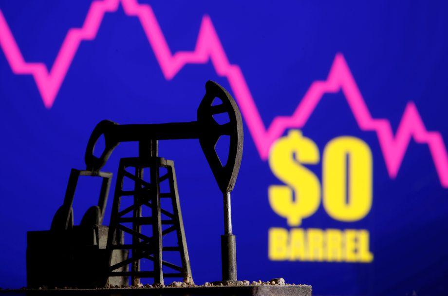 3D-Modell einer Ölpumpe vor Ölpreischart