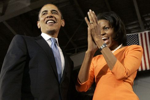 Barack and Michelle Obama: One member of the former Clinton court after another is defecting to the Obama camp.